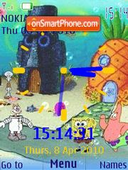 Скриншот темы Spongebob Clock2