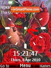 Red Bird Clock es el tema de pantalla