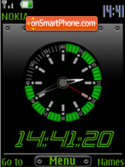 Green clock theme screenshot