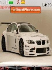 White BMW 01 theme screenshot