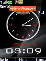 Black analog clock theme screenshot