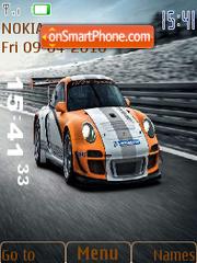 Скриншот темы Porsche 911 GT3 R Hybrid 2010 SWF