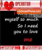 I Need U es el tema de pantalla