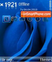 Скриншот темы Blue Rose 01