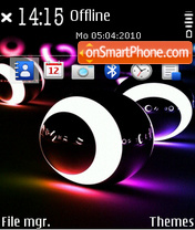 Neon billiard tema screenshot