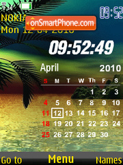 Calendar & Clock Sunset theme screenshot