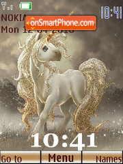 Unicorn Clock theme screenshot