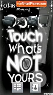 Dont Touch 07 tema screenshot