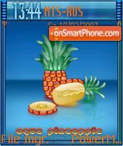 Aqua Pineapple es el tema de pantalla