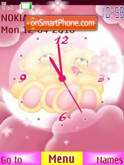 Teddy Bear SWF Clock es el tema de pantalla