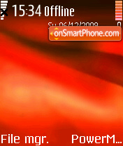 N3230 Red Theme theme screenshot