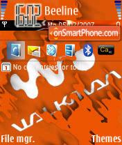 Скриншот темы Walkman