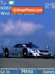 Mercedes Benz CLK-GTR theme screenshot