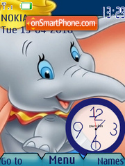 Dumbo Clock theme screenshot