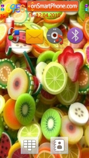 Fruity Colours theme screenshot