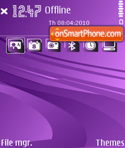 Violets D theme screenshot