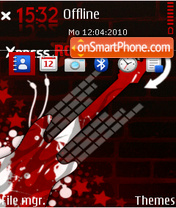 Xpress rock red es el tema de pantalla