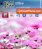 Pink flowers 03 es el tema de pantalla