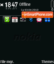 Nokia 9551 theme screenshot