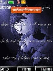 Vincent valentine and lucrecia crescent es el tema de pantalla