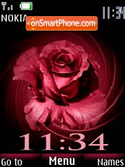 Abstract rose theme screenshot