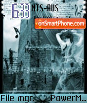 Image Of Silent Music theme screenshot