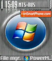 Grey Vista tema screenshot