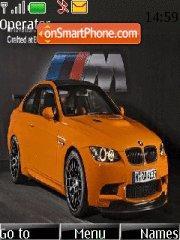 Orange BMW M3 tema screenshot