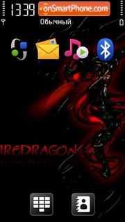 Fire Dragon 01 theme screenshot
