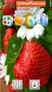 Strawberry Flower 01 theme screenshot