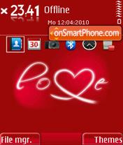 Red Love 02 theme screenshot