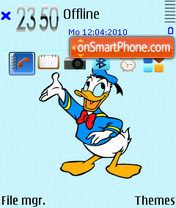 Donald duck fp1 theme screenshot