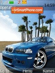 Blue BMW theme screenshot