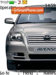 Скриншот темы Toyota Avensis