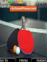 Table tennis theme screenshot