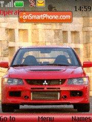 Mitsubishi Lancer Evolution 01 theme screenshot