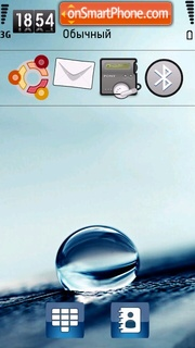 Rain Drop 01 tema screenshot