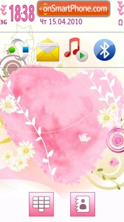 Pink Heart 08 theme screenshot