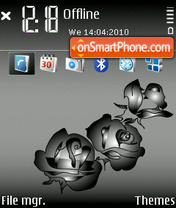 Black Roses 01 tema screenshot