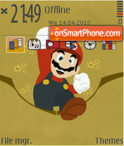 Mario grey fp1 theme screenshot