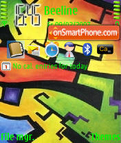 Скриншот темы Abstract Color