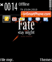 Fate stay night (Q) theme screenshot