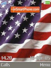 USA Flag es el tema de pantalla