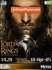 Lord Of The Rings 07 es el tema de pantalla
