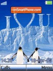 Penguin Love es el tema de pantalla