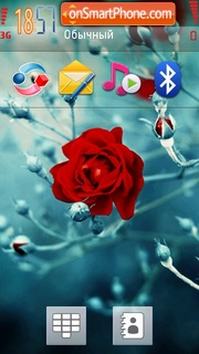 Red Rose 02 theme screenshot