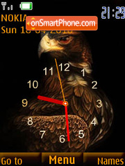 Golden egle clock theme screenshot