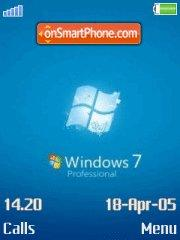 Windows 7 Blue es el tema de pantalla