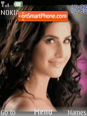 Animated Katrina Kaif theme screenshot