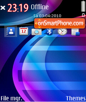 Blue wave 02 theme screenshot